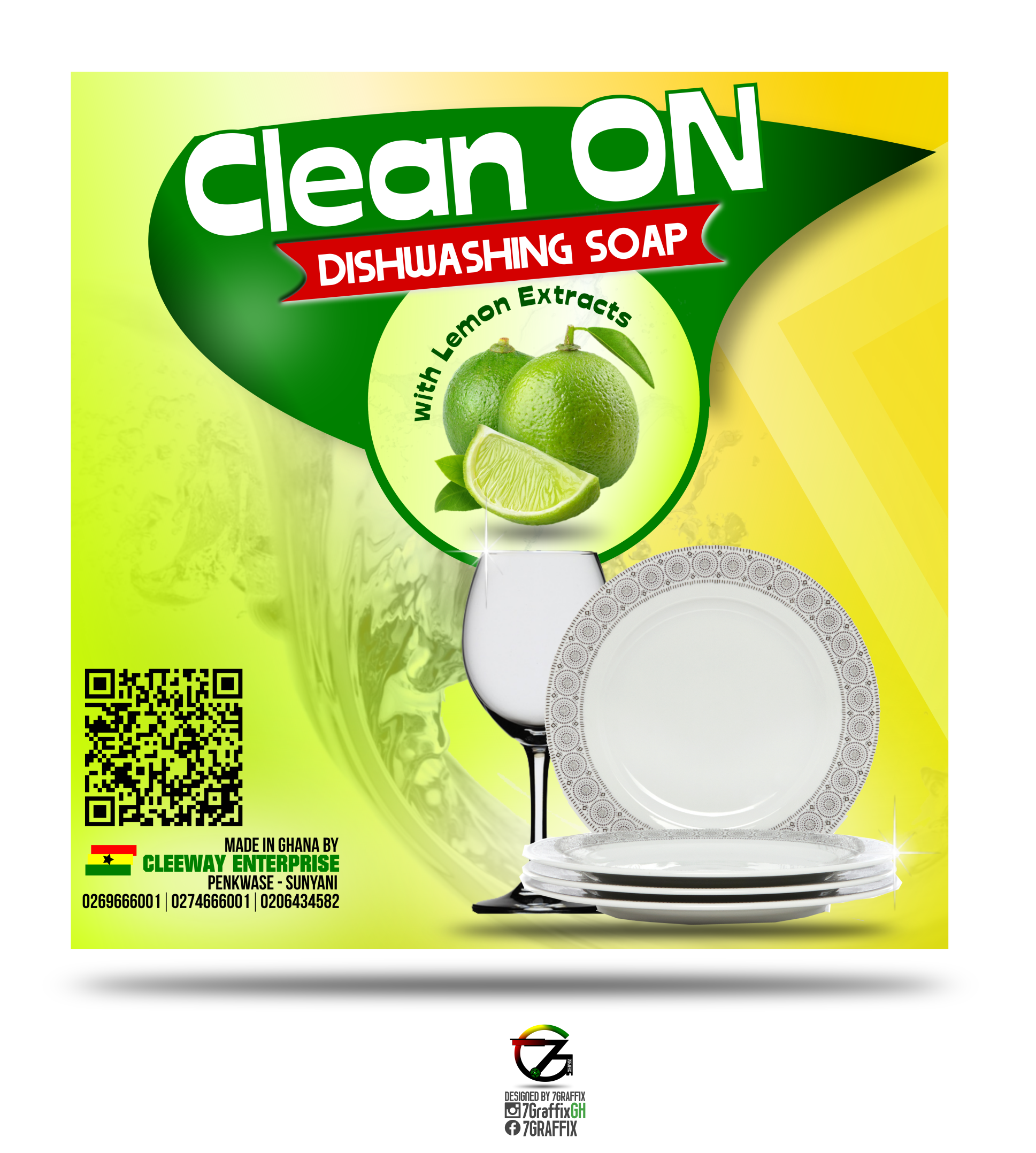 CLEAN ON DISHWASHING SOAP PRODUCT LABEL DESIGN (BY