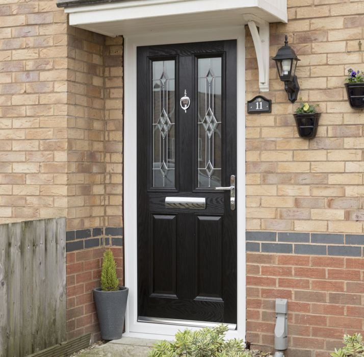 Safestyle doors oak half glazed for Front door quote online