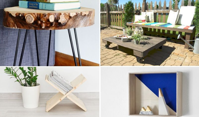 35 awesome diy wood projects for absolute beginners home decor rh pinterest com