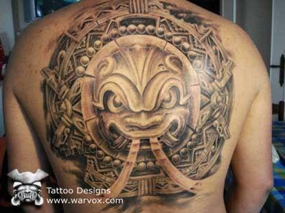 9ad55bcb7 Stone Head Tattoo » ₪ AZTEC TATTOOS ₪ Aztec Mayan Inca Tattoo Designs  Instant Download