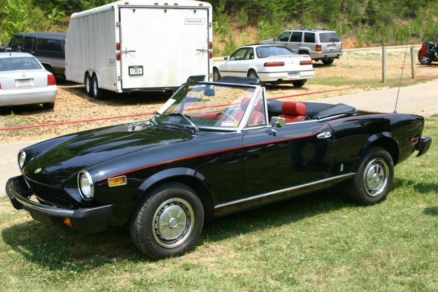Fiat Spider It Was Yellow And Had A Black Widow On The Hood