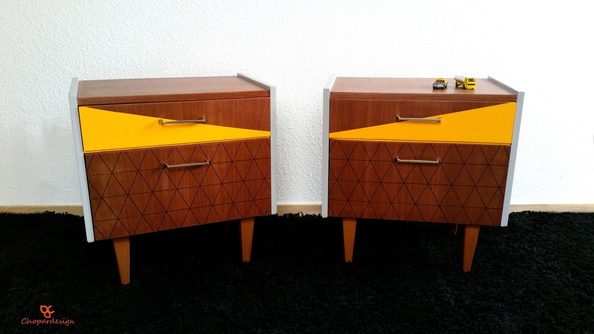 Duo De Chevets Vintage Des Annees 60 Relookes Meubles Et