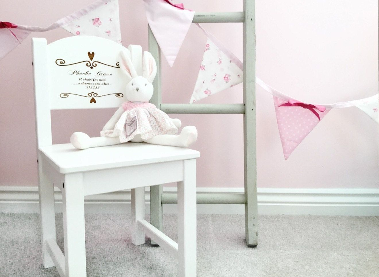 Personalised chair 1st birthday present first birthday gift personalised chair 1st birthday present first birthday gift new baby gift christening negle Image collections