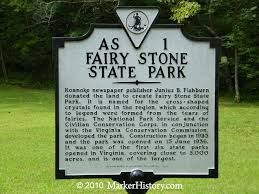 """Fairy Stone State Park 276-930-2424 967 Fairystone Lake Dr, Stuart, VA 24171 the largest of the original six state parks that opened on June 15, 1936, is home to the mysterious """"fairy stones."""" The park's cross-shaped, namesake stone is prevalent in the region, which also features beautiful scenery, rich history and ample recreational opportunities that make Fairy Stone a favorite. The park's land was donated in 1933 by"""