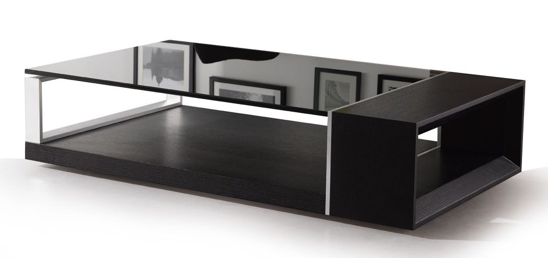 Modern Black Glass Coffee Table Coffee Tables Guide Modern Black