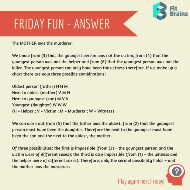 Brain Teaser Mystery Riddle Answer Brain teasers