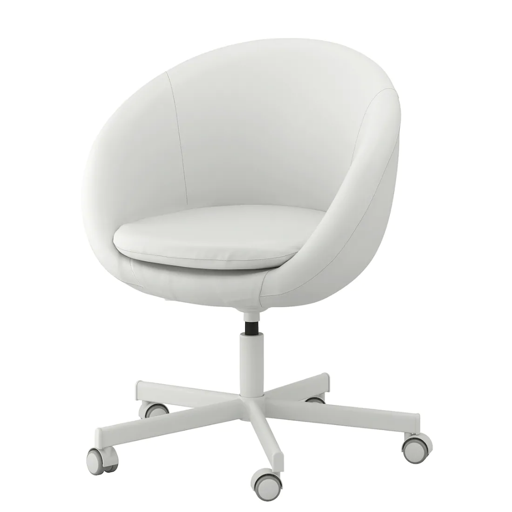 SKRUVSTA Swivel chair Ysane white White swivel chairs