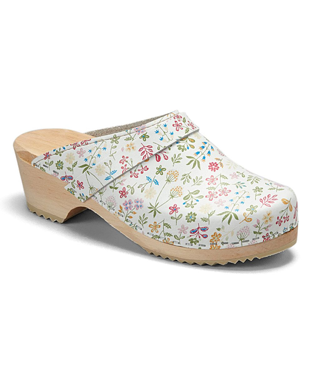 5b09b24412eaf Look at this Cape Clogs White Flower Allium Clog - Women on  zulily today!