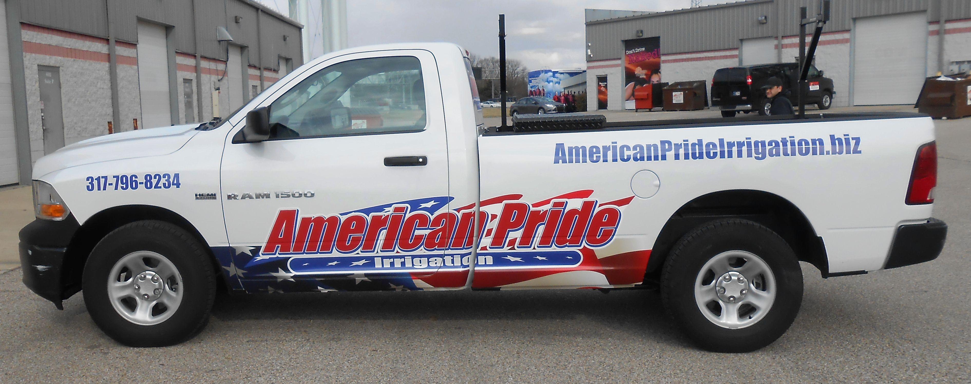 American Pride Irrigation Truck Graphics Vehicle Wrap