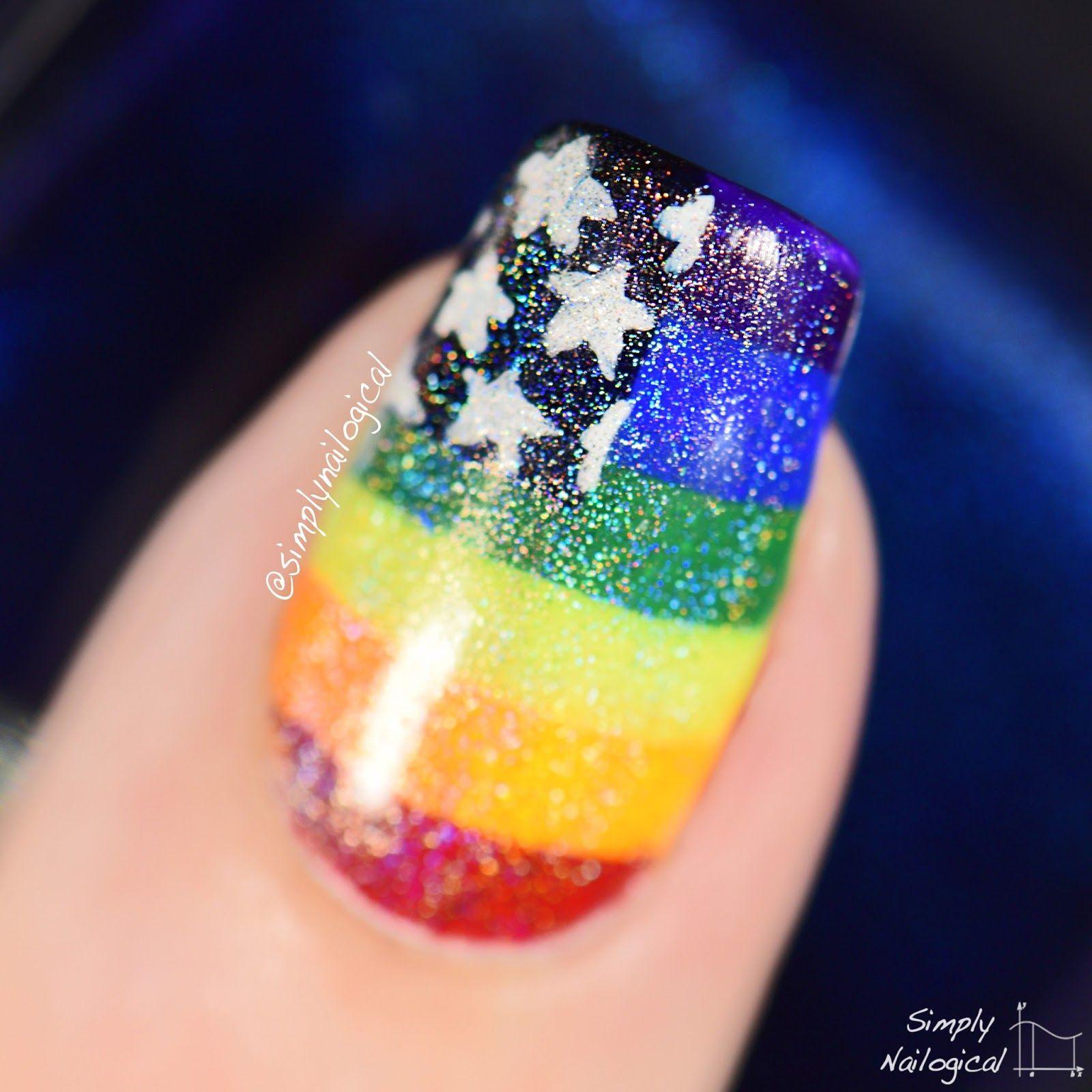 Simply Nailogical Nail Art: Simply Nailogical: Gay American Pride Flag Nails