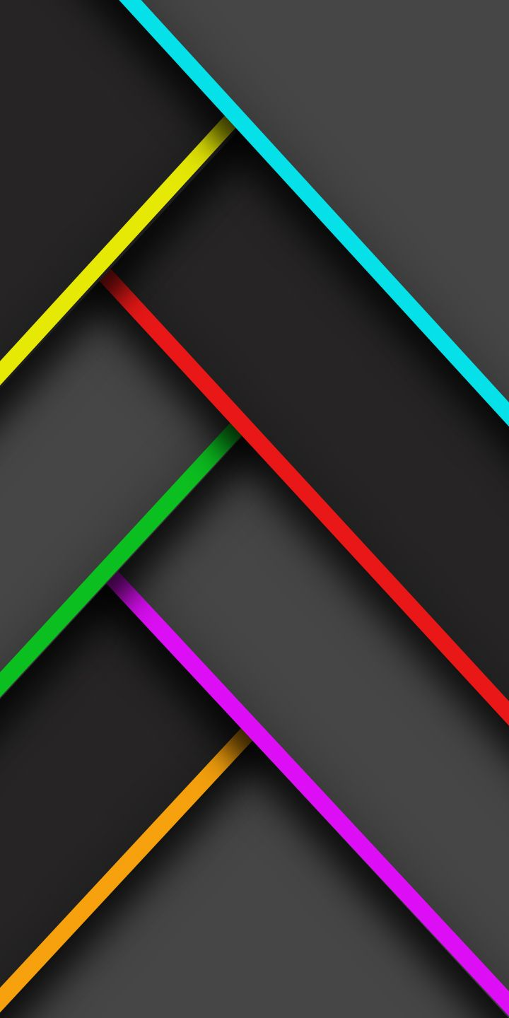 Infinity stone colored lines, Material design, 18:9 wallpaper made by me
