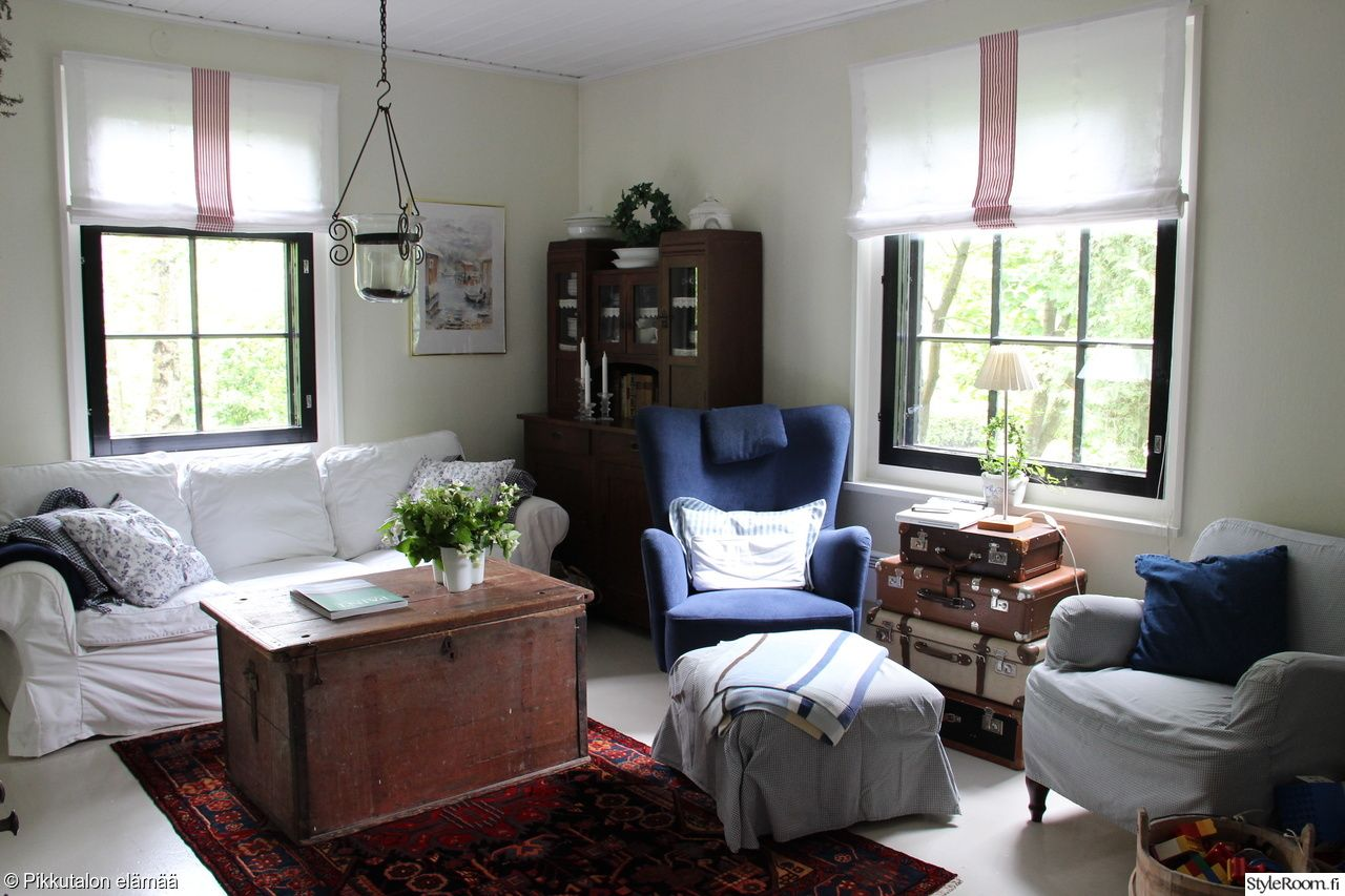 Kuva: Pikkutalossa (http://www.styleroom.fi/album/44096) #styleroom #inspiroivakoti #olohuone #maalaisromanttinen