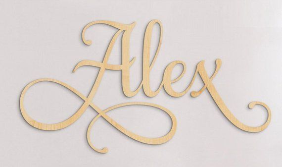 Large Wooden Letters For Nursery Decor, Personalized Letters