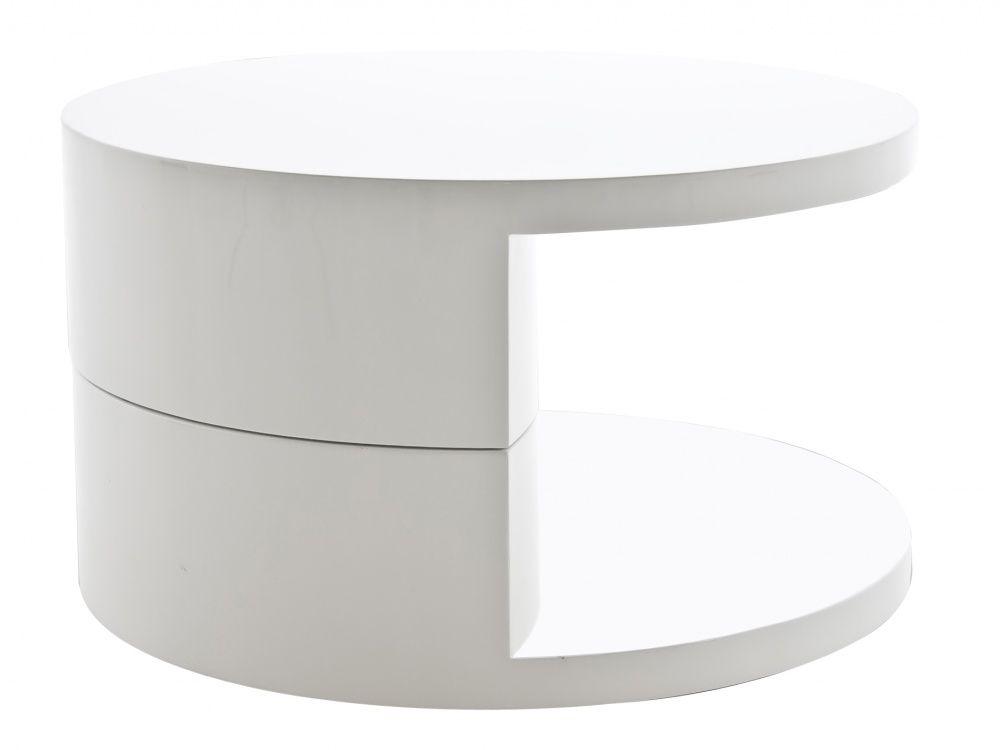 41++ White high gloss coffee table round ideas