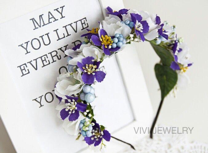 Kranz Blumenkranz Vintage Hochzeit Handmade DIY Sommer Boho Photoshooting Strand Flower Floral Crowns  www.vivi-jewelry.de