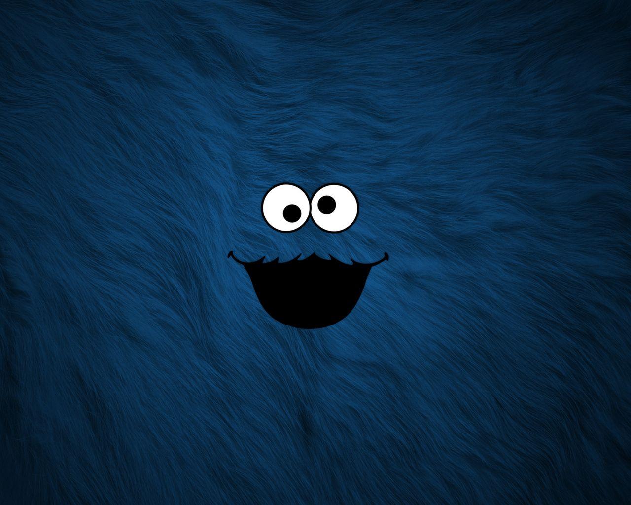 The Cookie Monster Wallpaper Kartun