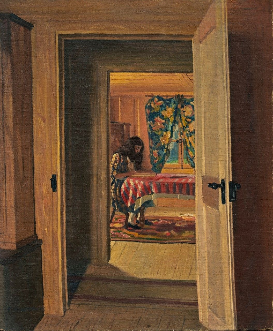 Female Nude in a Red Interior - Felix Vallotton