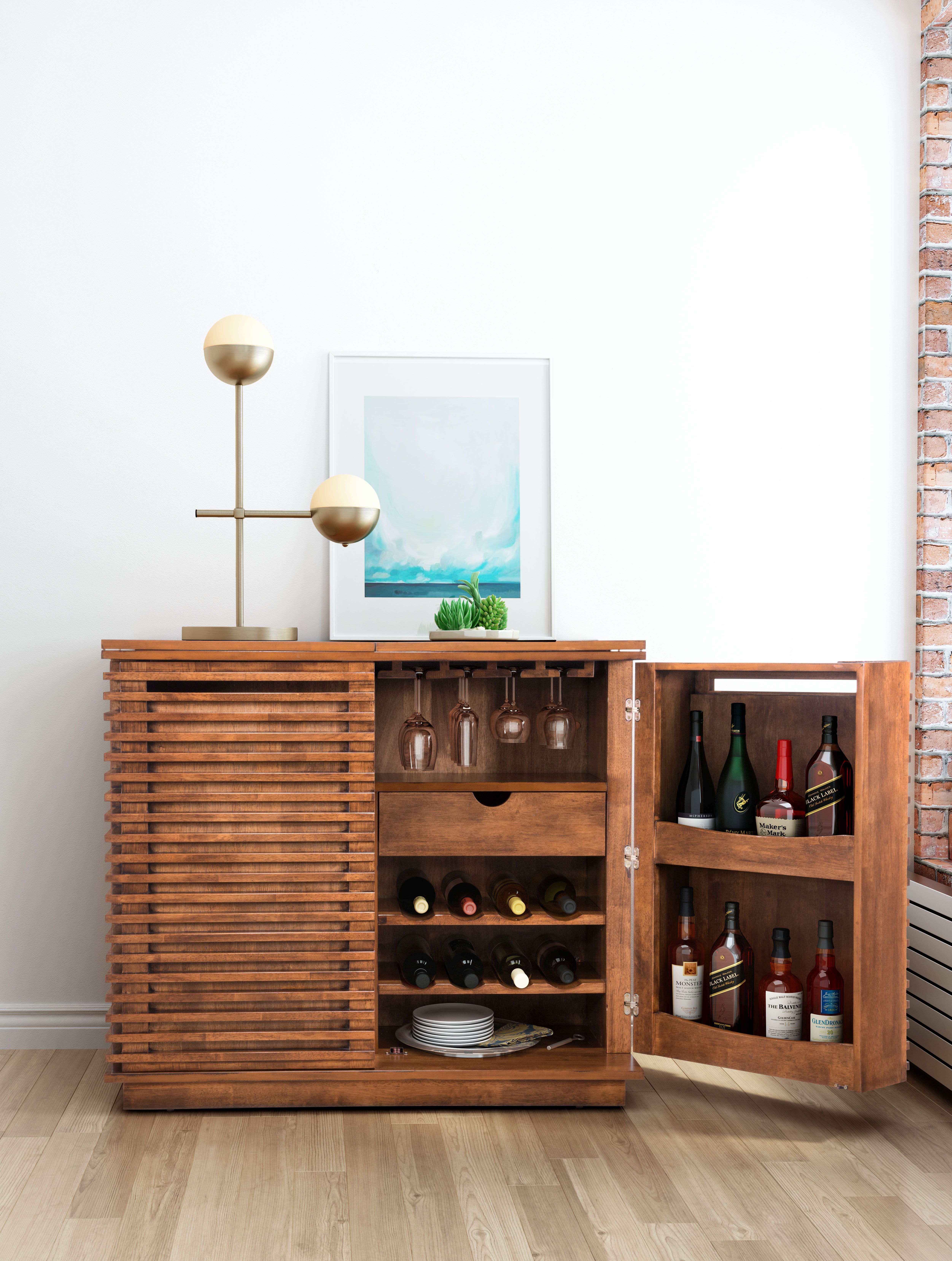 This Bar Cabinet From Zuo Modern Stores Everything You Need For Holiday Entertaining Walnut Cabinets Cabinet Bar Furniture