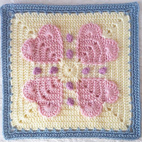 Crochet For Children Never Ending Love 12 Square Free Pattern