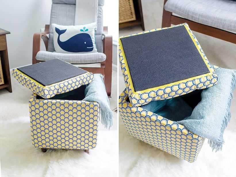 Oak Blanket Chest Diy Storage Ottoman Diy Ottoman Diy Storage