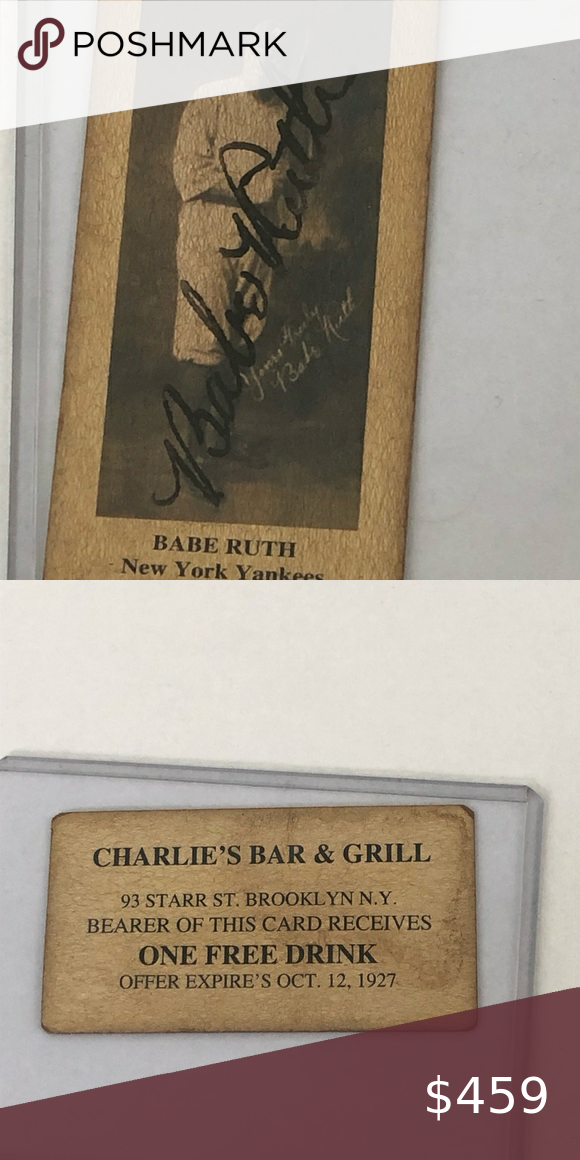 Babe Ruth Autographed Signed Old Baseball Card In 2020 Babe Ruth Autograph Old Baseball Cards Babe Ruth