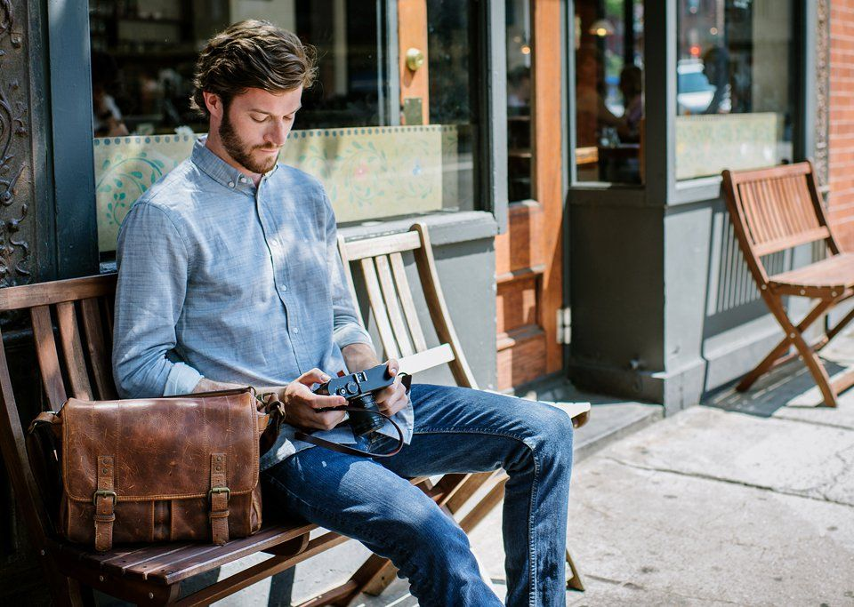 The ONA Leather Prince Street Camera Messenger Bag | Men & Style ...