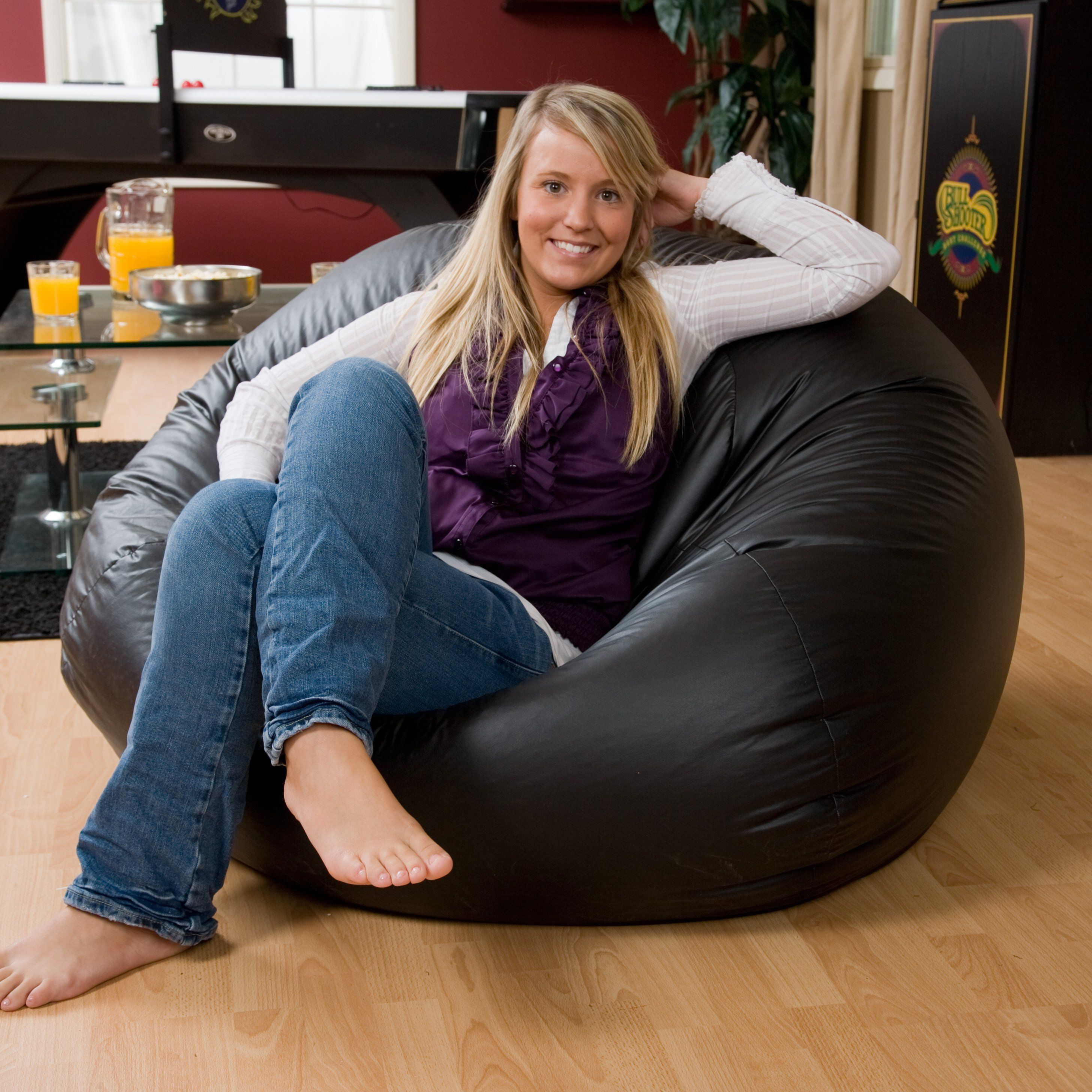 Have to have it. Exclusive XL Vinyl Bean Bag Chair 99.98