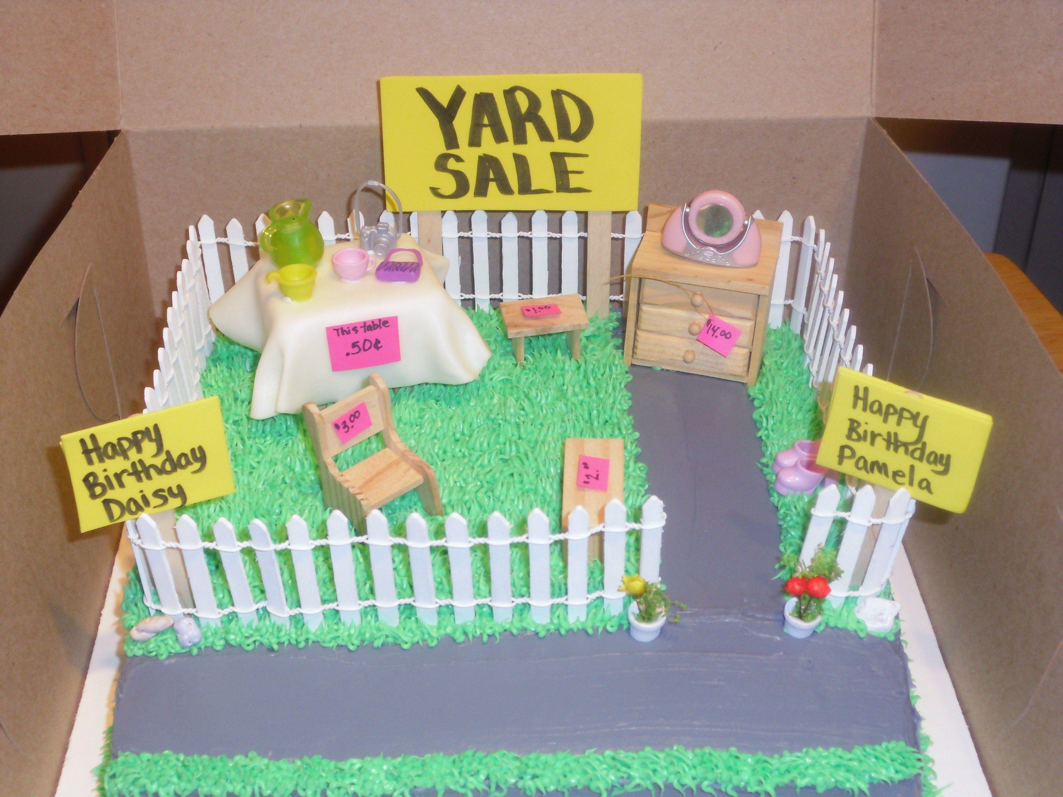 Yard Sale Birthday Cake Yard Sale Birthday Cake cupcakes
