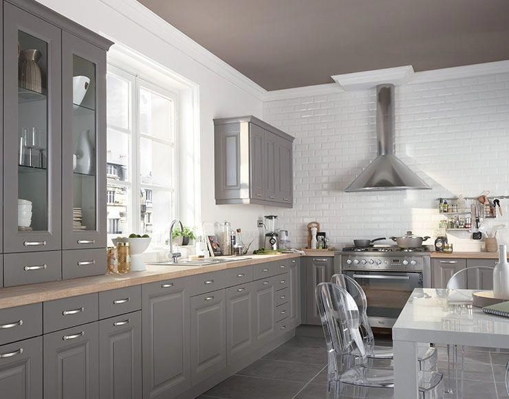 Meuble Cuisine Candide Taupe Castorama Kitchendesign Cocinasmexicanas Home Kitchens Taupe Kitchen Kitchen Design