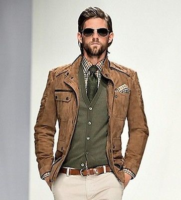 Boss HUGO BOSS Brown Leather (SUEDE) Jacket