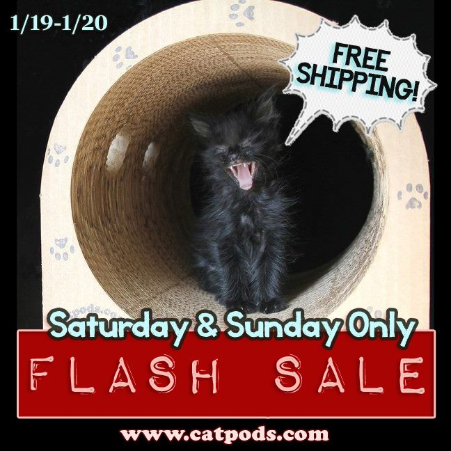 Catpods is having its first Flash Sale! This weekend get FREE SHIPPING on ALL orders for 2 days Only, Saturday and Sunday.