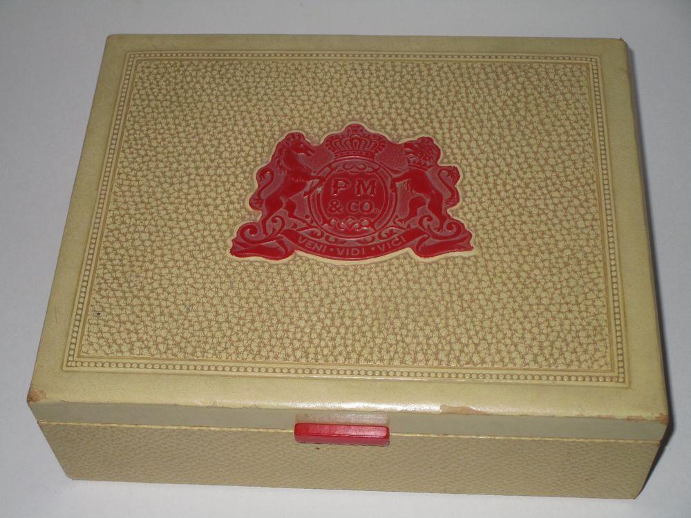 PM & Co ~ Phillip Morris ~ Veni-Vidi-Vici Cream Color Cigar Box