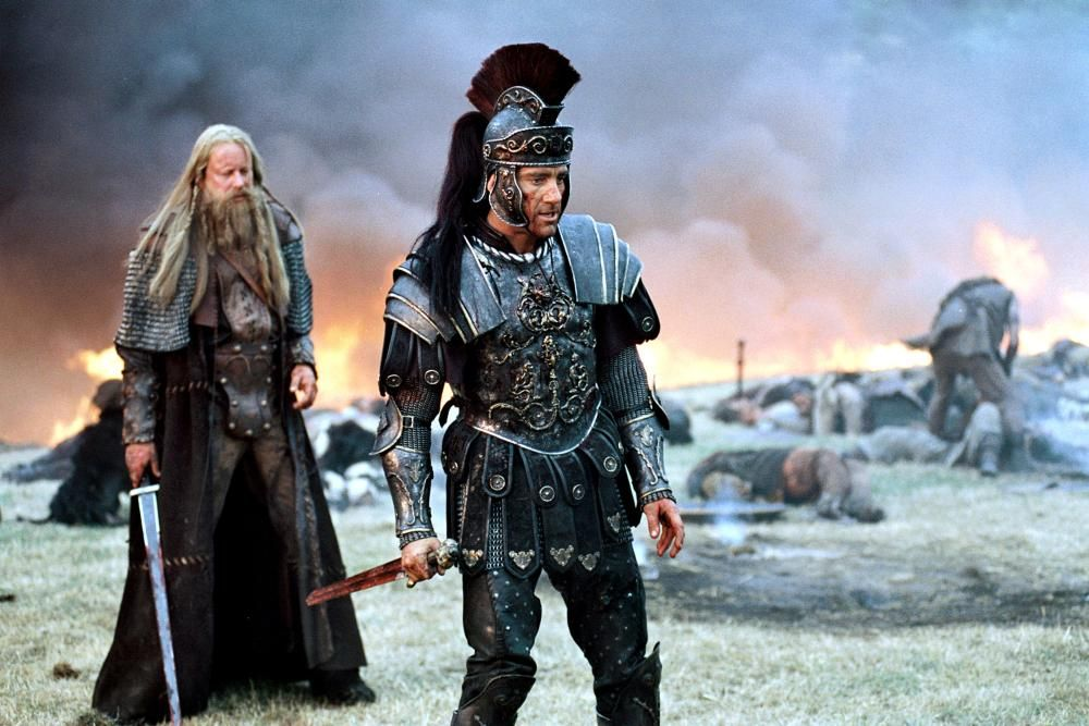 Stellan Skarsgard And Clive Owen In King Arthur 2004 King Arthur Movie 2004 King Arthur Movie Clive Owen
