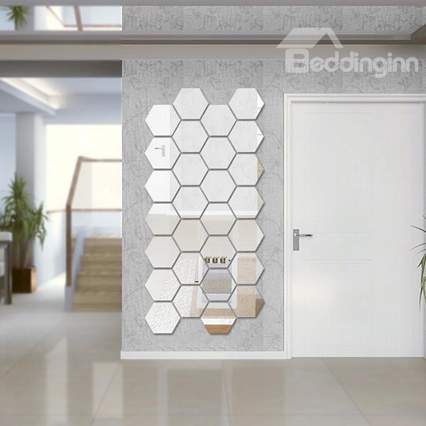 DIY Oval Acrylic Decorative Mirror Frameless Wall Sticker Home Room Decoration