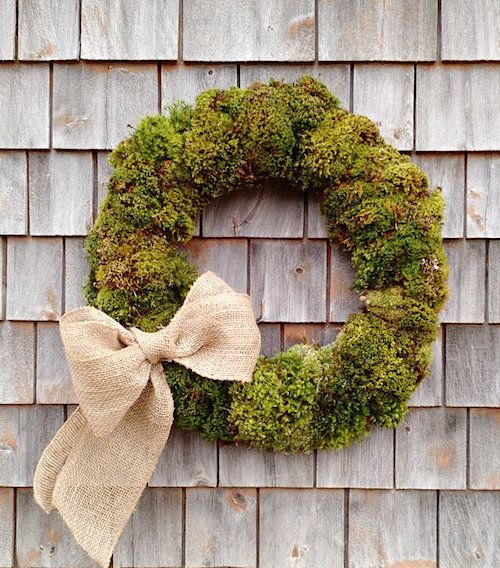 How to Make a Moss Wreath & Display Ideas (Video). This Earthy wreath is gorgeous all year around and we show you how to display it throughout your home.