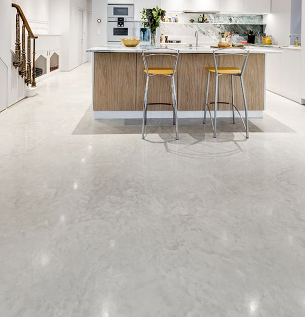 Lazenby Oyster White Polished Concrete Floor And Also Red Idea Black ...