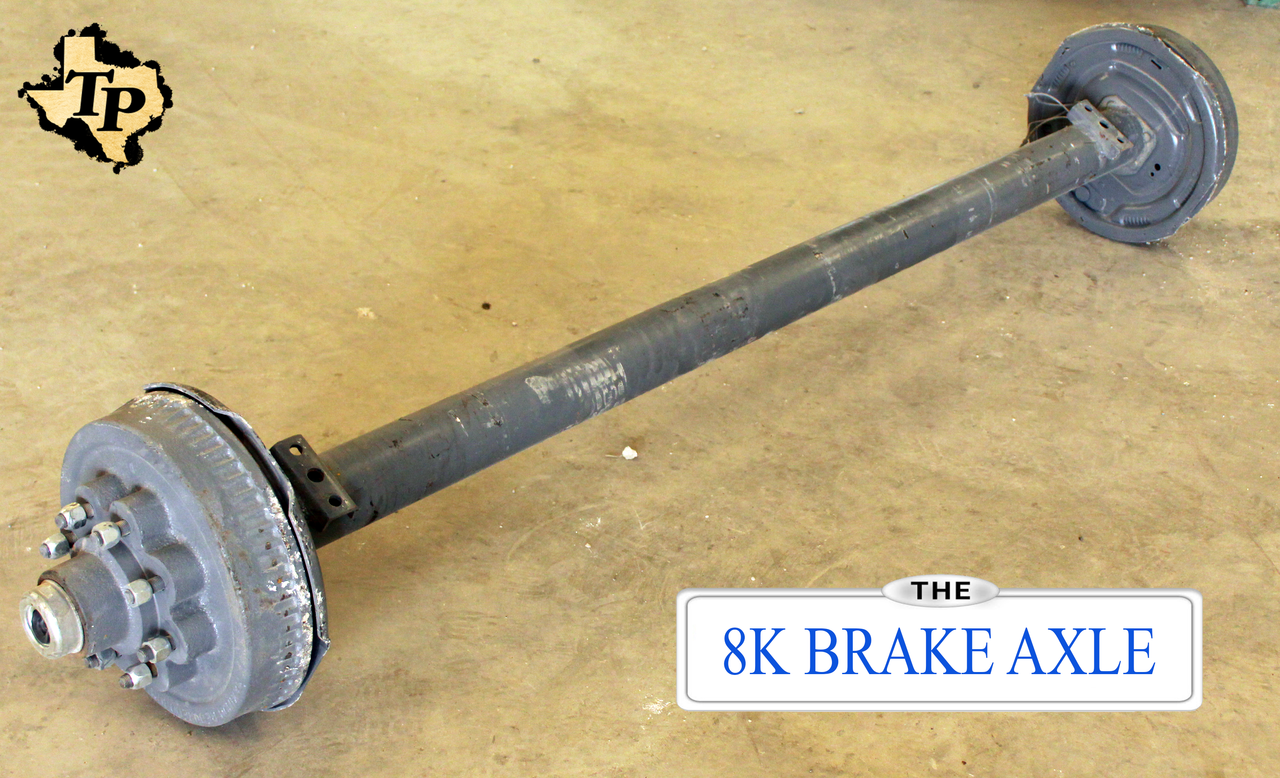 8k tk trailer axle 8000 lb electric brake 8 lug trailer axles 8k electric drum brake trailer axle 8000 lb capacity best quality in stock publicscrutiny Gallery