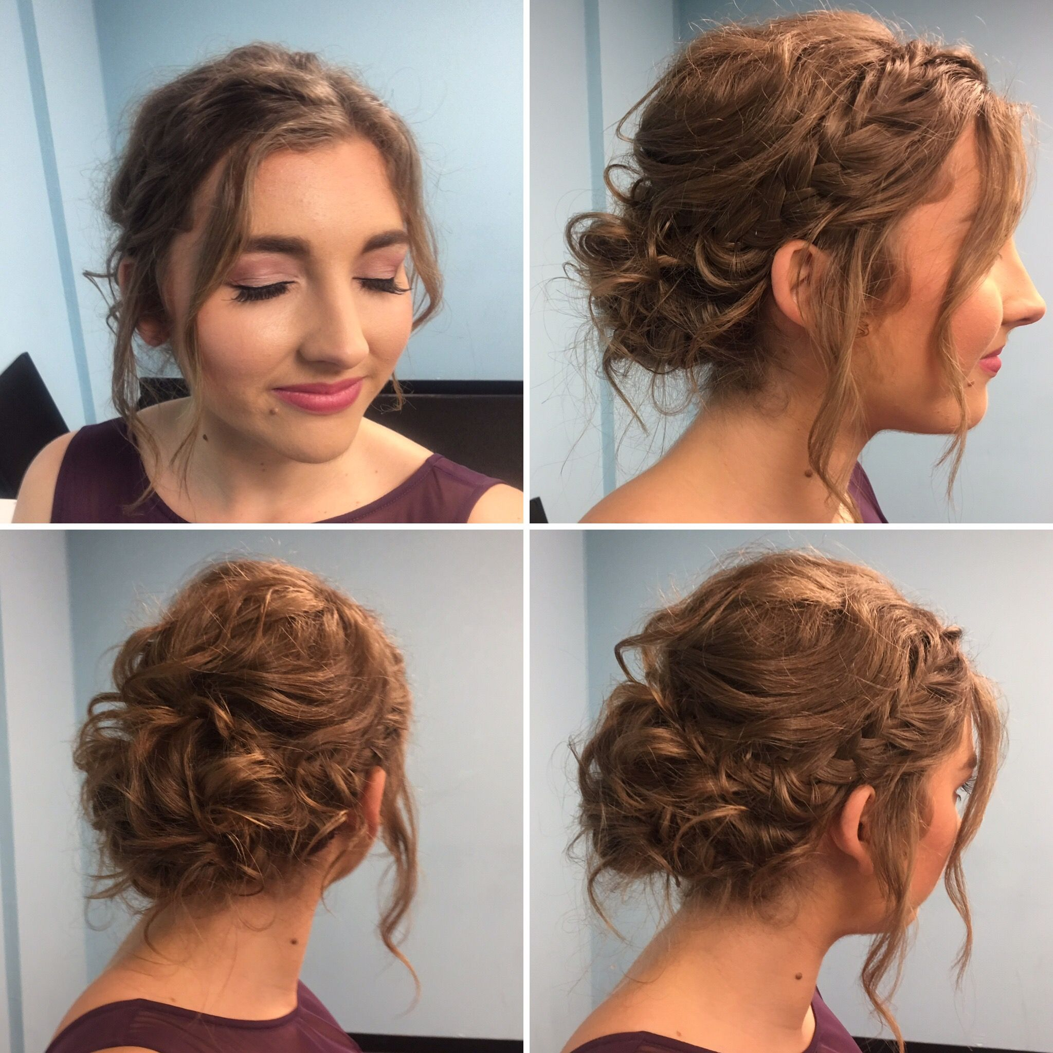 bridesmaid hair. short hair updo. bridesmaid makeup