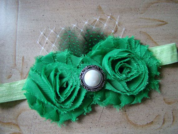 St Patrick's Day Green Vintage Headband by AvasTutuCuteBoutique, $12.50