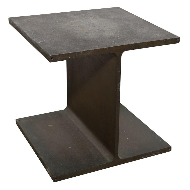 Ward Bennett Ibeam Side Table Side Table Steel Design Table
