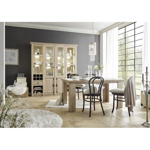 Brambly Cottage Vega Dining Set Wall Mounted Display Cabinets Home Additions Dining Set