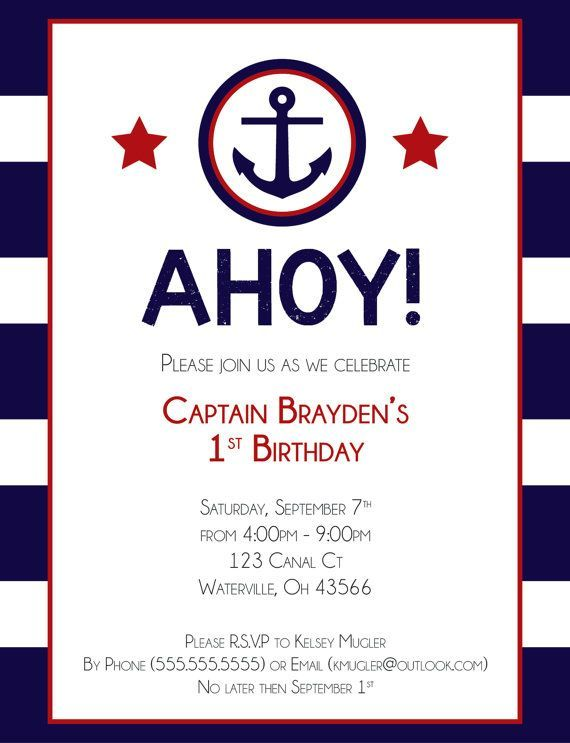 nautical birthday invitation jack s first birthday in 2018