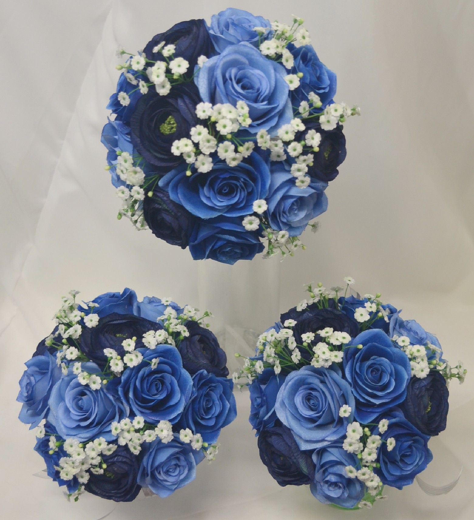Blue navy royal and dusty mixer with babies breath white flowers blue navy royal and dusty mixer with babies breath white flowers blue wedding bouquetsblue izmirmasajfo