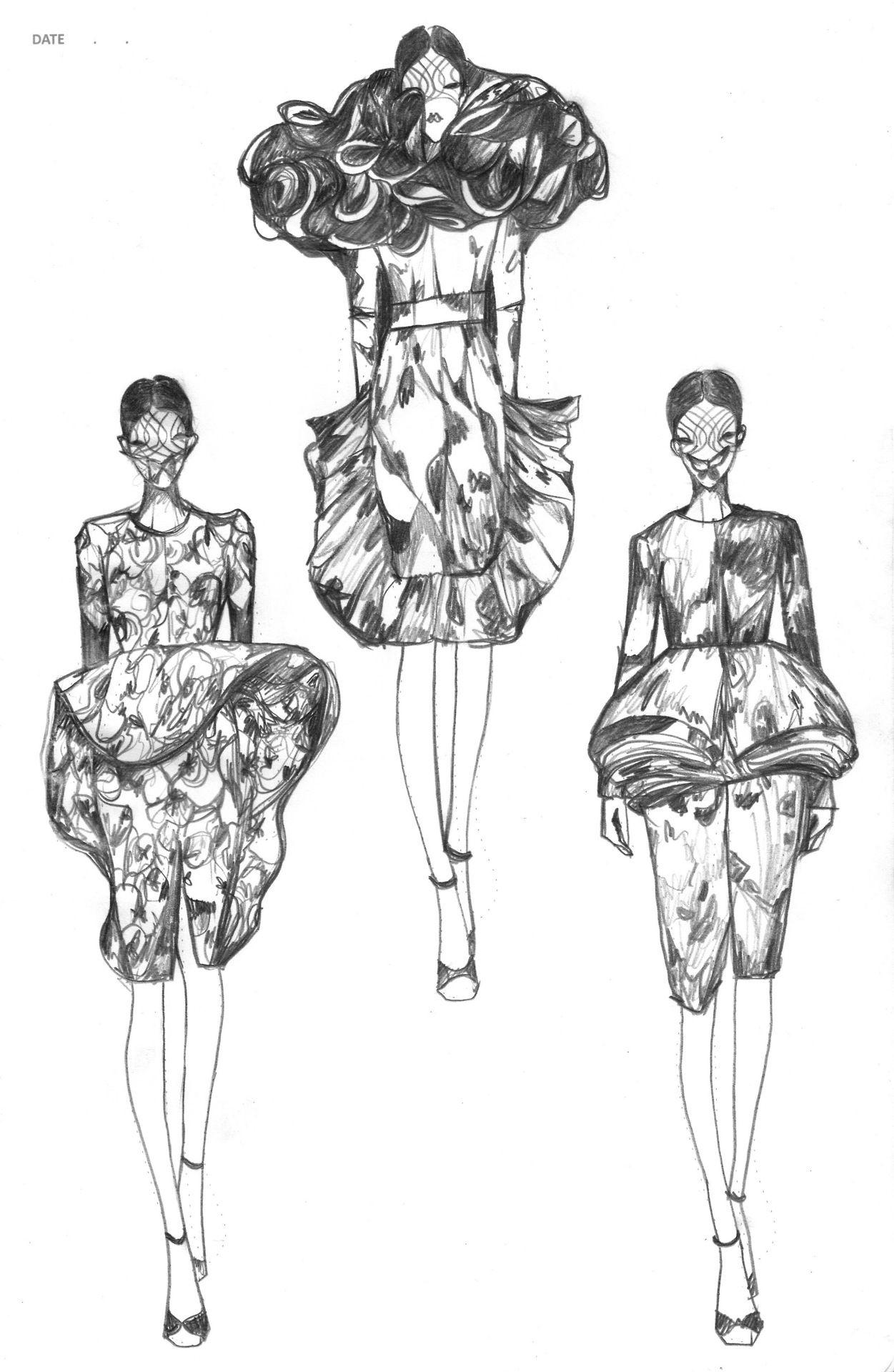 Vikki Yau Fashion Illustration - Fashionary Sketches ...