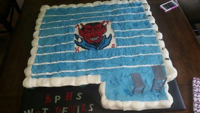 Swimming Pool Cupcake/cake