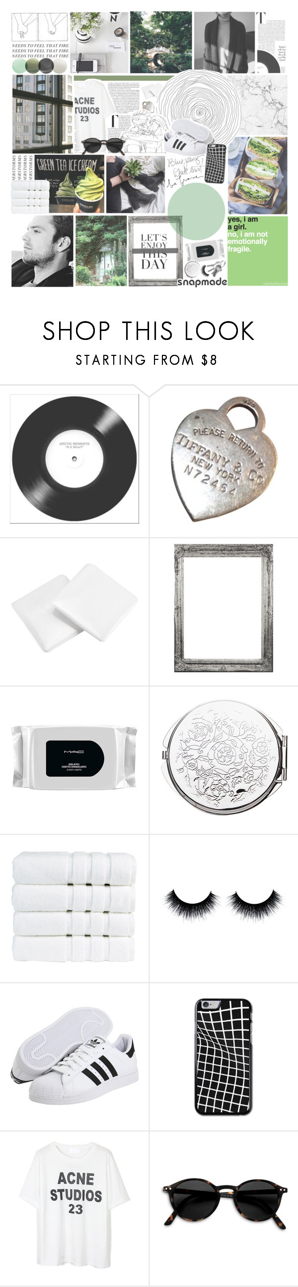 """- our disco ball's my kitchen light. -"" by etoilesdanse ❤ liked on Polyvore featuring Tiffany & Co., MAC Cosmetics, Christy, adidas Originals, kitchen and gottatagrandomn3ss"