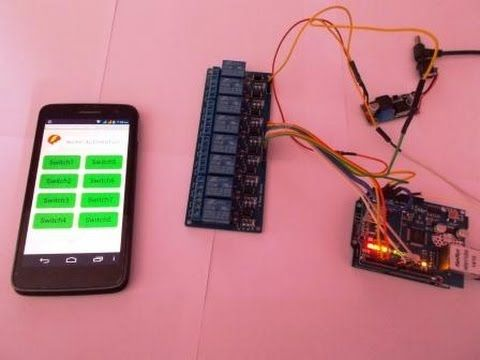 HOME AUTOMATION CONTROL DEVICES REMOTELY THROUGH INTERNET