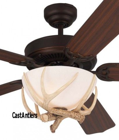 52 rustic dakota faux antler ceiling fan for the home pinterest 52 rustic faux antler ceiling fan aloadofball Image collections