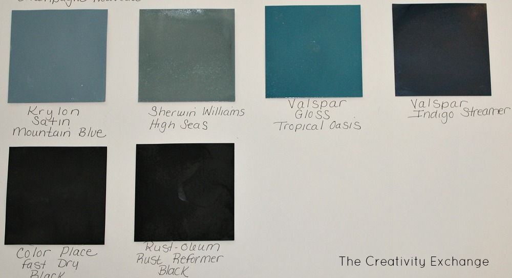 Creative Spray Paint Ideas Part - 43: 20 Favorite Spray Paint Colors {The Creativity Exchange}.blues And Blacks