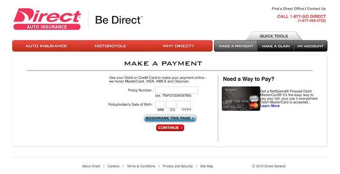 Direct General Bill Pay Paying Bills Bills Directions